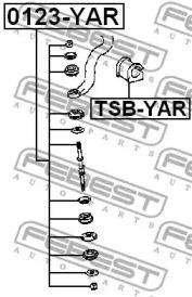 Втулка переднего стабилизатора Toyota Yaris 99-02 FEBEST TSBYAR-1