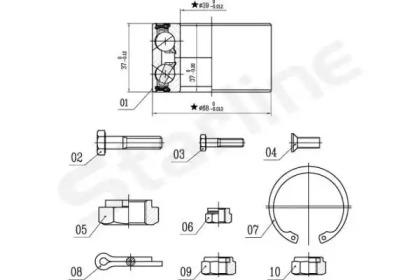 Пiдшипник ступицi колеса STARLINE LO00575